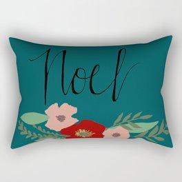 "Christmas Florals ""Noel"" Rectangular Pillow"