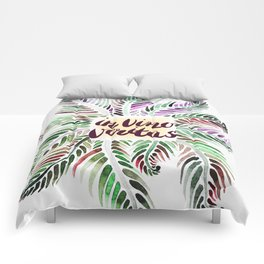Fern.In vino veritas. In wine truth. Latin. Comforters