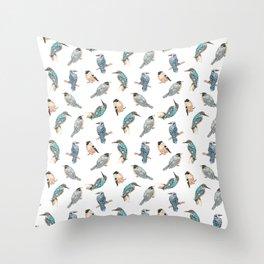 Watercolor Birds Pattern Throw Pillow