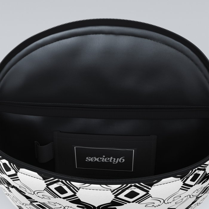 Black and White Knights Fanny Pack