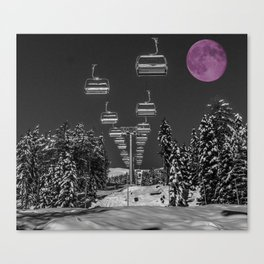 Chairlift to the Moon Canvas Print