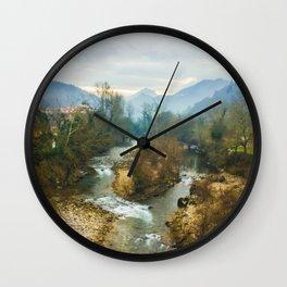 Mountain river Wall Clock