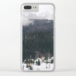 Alpine Village Clear iPhone Case