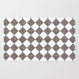 Farmhouse Checkers in Taupe and White Rug
