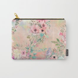 Botanical Fragrances in Blush Cloud Carry-All Pouch