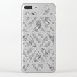 Triangle Hatching Pattern Clear iPhone Case