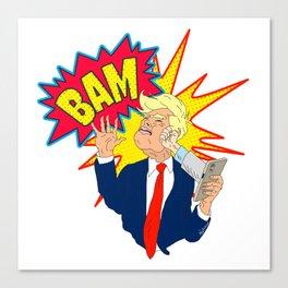 Stop Tweeting Trump Canvas Print