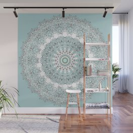 Mandala - Boho - Sacred Geometry - Pastels - Wall Mural