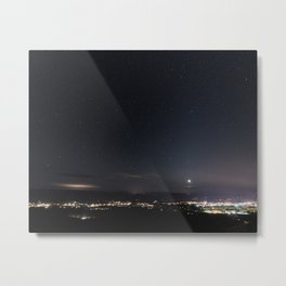 Arizona Desert Night Sky Stars Metal Print
