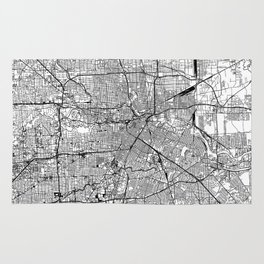 Houston White Map Rug