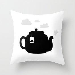 Cloudy pot Throw Pillow