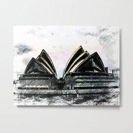 Sydney Opera House  Collection II Metal Print