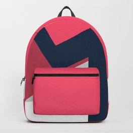 Letters M - geometric Backpack
