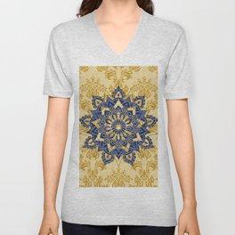 Mandala romantic blue Unisex V-Neck
