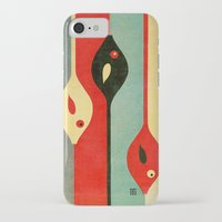 fish iPhone & iPod Cases featuring Three Fish in My Mind by Fernando Vieira