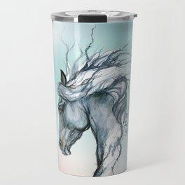 Aqua horse Travel Mug