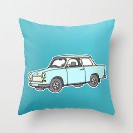 Trabant or Trabi. Car of GDR Throw Pillow