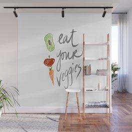 Eat Your Veggies Wall Mural