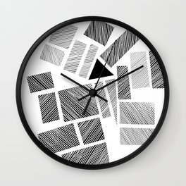 City Blocks and Triangle Wall Clock