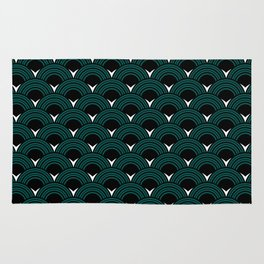 Art Deco Shell Print Rug