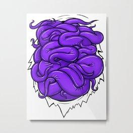 Purple Tentacles Metal Print