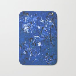 Blue Chaos Bath Mat