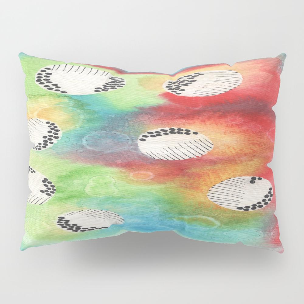 Watercolor Vibrant Abstract Painting Pillow Sham by Kingaszumilas PSH8943922