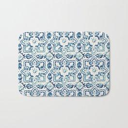 Azulejo IV - Portuguese hand painted tiles Bath Mat