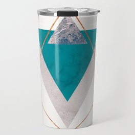 TEAL COPPER AND BLUSH GEOMETRIC Travel Mug