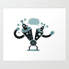 Siamese Robots Art Print