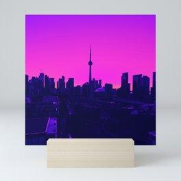 Vaporwave City Mini Art Print