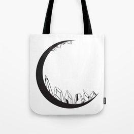 Crystal Moon - Black Tote Bag