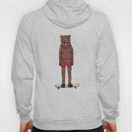 Bear + Skateboard Hoody