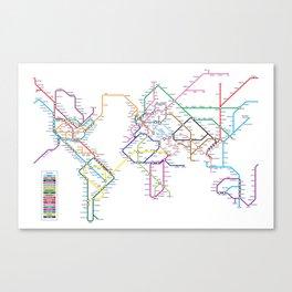 World Metro Subway Map Canvas Print