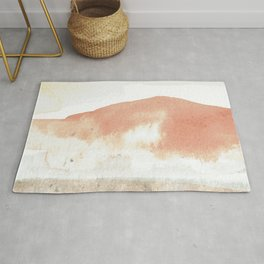 Terra Cotta Hills Abstract Landsape Rug