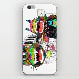 Totoro fan art (cat bus) by Luna Portnoi iPhone Skin