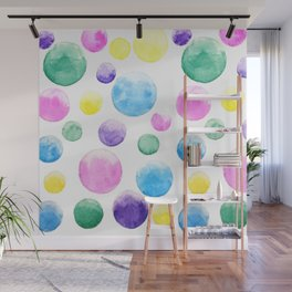 cheerful colorful bubbles Wall Mural