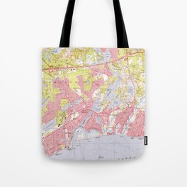 Dennis and Yarmouth Massachusetts Map (1974) Tote Bag