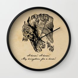 Shakespeare - Richard III - Kingdom for a Horse Wall Clock