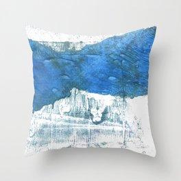 Lapis lazuli abstract watercolor Throw Pillow