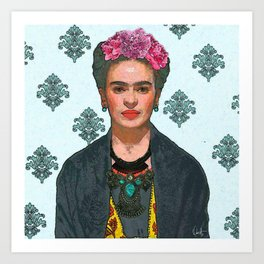 Trendy Frida Kahlo V.2 Art Print
