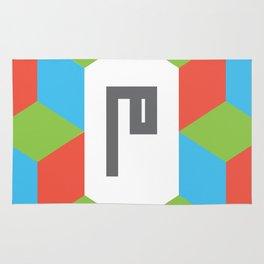 """Monogram Arabic Letter """"M"""" Rug"""
