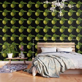 Lemon on Black DP150415a Wallpaper
