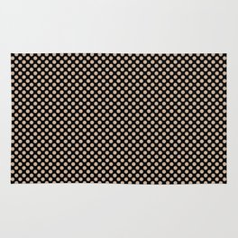 Black and Toasted Almond Polka Dots Rug