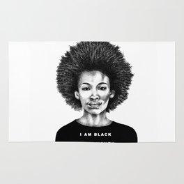 I Am Black Every Month Rug