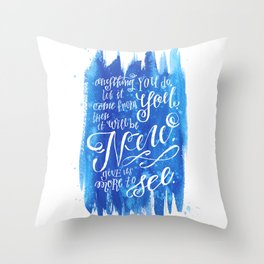 You Keep Moving On [Sunday In The Park With George] Throw Pillow