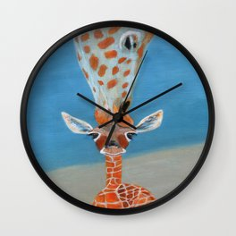 Mom Loves Me Wall Clock