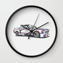 BMW CSL Turbo Wall Clock