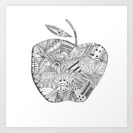 Zentangle Apple Art Print