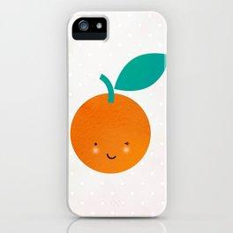 Miss Cheeky Orange iPhone Case